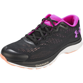 Under Armour Charged Bandit 6 Running Shoes Women, black-white-meteor pink